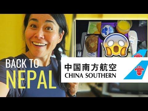 BACK TO NEPAL | Chinese & Nepali Food on CHINA SOUTHERN ECONOMY CLASS