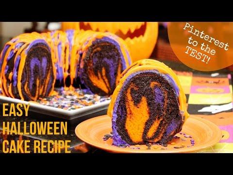 Pinterest to the Test: Easy Halloween Cake Recipe (Orange&Purple&Chocolate)