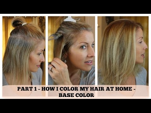 PART 1 - Home Hair Color - How I color the BASE
