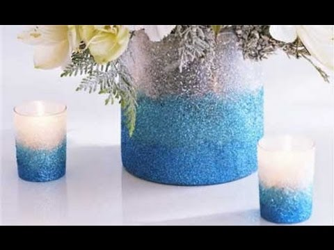 How to Make an Ombre Glittered Vase