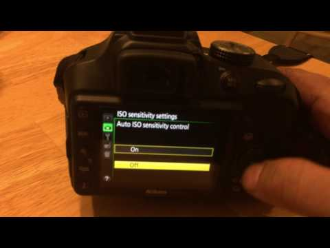 How to change ISO on Nikon D3400