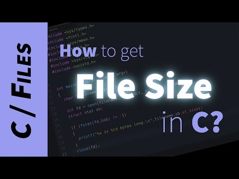 How to get a file's size in C? (stat, fstat, fileno)