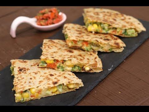 Veggie Quesadilla In Gujarati | Snacky Ideas by Amisha Doshi | Sanjeev Kapoor Khazana