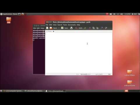 First C Program using ubuntu linux