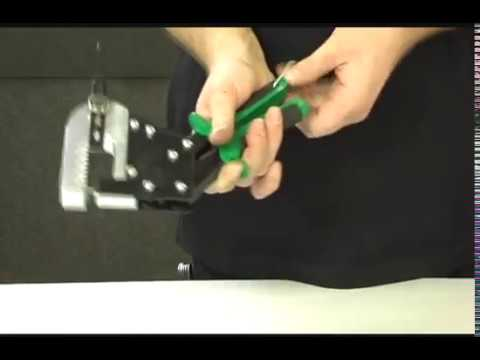 Punching a hole in sheet metal the easy way.