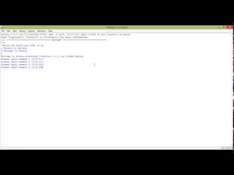 Python tutorial 16 - Binary to decimal converter
