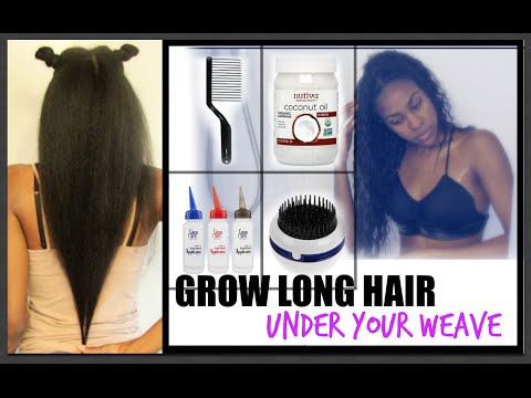 NATURAL HAIR| How To Grow Long Hair Under Your Weave! (Updated)