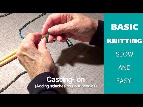 BASIC KNITTING | SLOW Beginner's Knitting