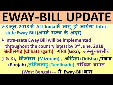 GST : EWAY BILL UPDATE, INTRA STATE EWAY BILL IMPLEMENTED IN ALL INDIA, EWAY BILL PRESS RELEASE