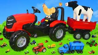 Tracteurs et animaux de ferme jouets, camions pour enfants - Tractor Toys for kids