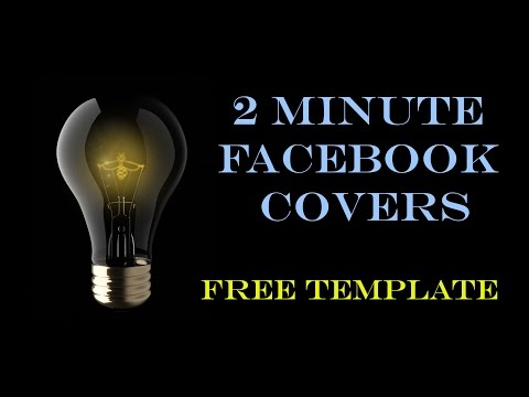 Facebook cover photo in 2 minutes - FREE template