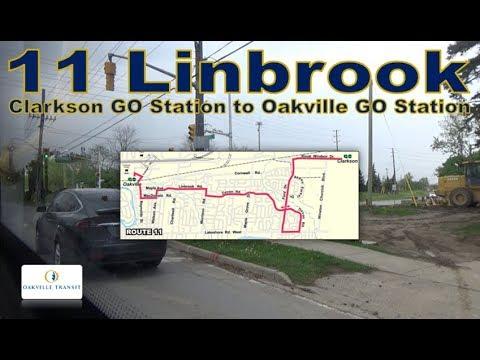 11 Linbrook - Oakville Transit 2016 Grande West Vicinity 1609 (Clarkson GO Stn to Oakville GO Stn)