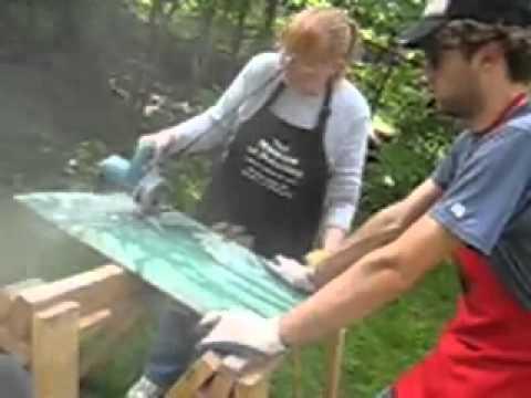 Nancy & Tony Cutting Down Slate