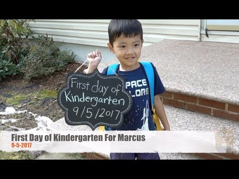 First Day of Kindergarten For Marcus