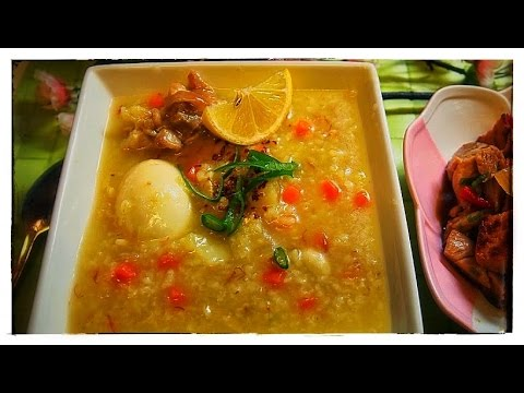 Arroz Caldo or Congee ( LUGAW) with Tokwa't Manok