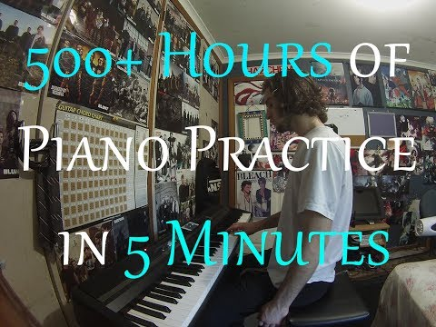 Complete Beginner Practices the Piano for 500+ Hours (18 Months Progression Video)