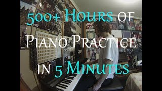 complete beginner practices the piano for 500 hours 18 months progression video