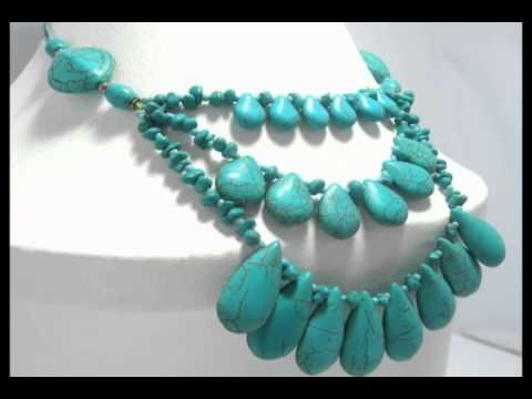 Real Natural Chunky Turquoise Jewelry Necklace, Bracelet, earrings, rings on Etsy & eBay