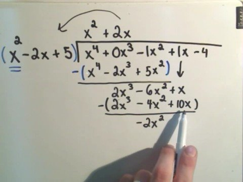 Long Division of Polynomials - A slightly harder example