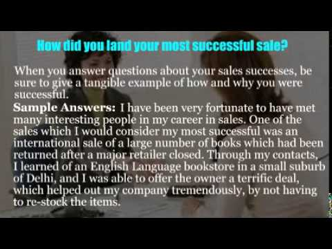 Outside sales interview questions