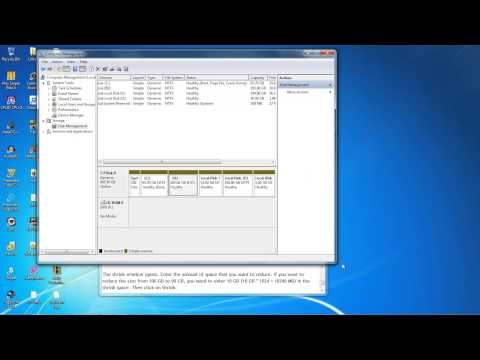 How to reduce size of a drive in Windows 7