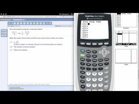 The X-Intecept Method of Solving an Equation