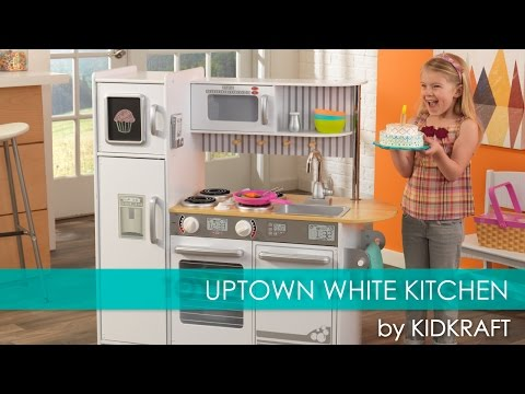 Children's Uptown White Play Kitchen for Lil' Chefs - Toy Review