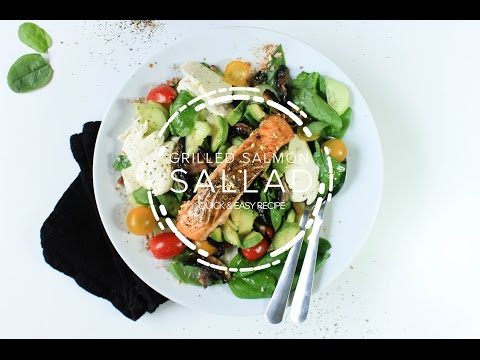 Baked Salmon Salad - Quick & Easy Recipe