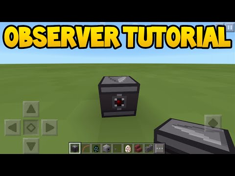 Minecraft PE - 0.15.0 Update! - How To Use Observer Block! - Tutorial