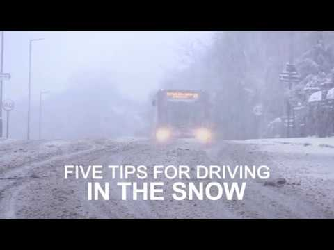 Five tips for driving in the snow
