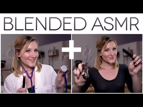 BLENDED ASMR | Doctor Exam + Haircut Roleplay 🏥 ✂️