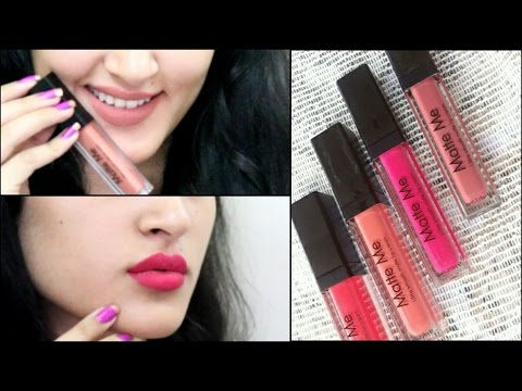 InColor Matte Me Liquid Lipstick SWATCHES & REVIEW| ThatGlamGirl