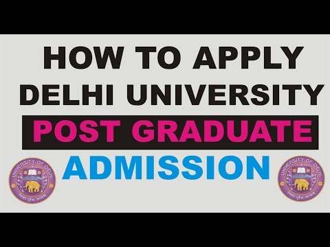 Delhi University PG Admissions 2017:HOW TO APPLY ONLINE
