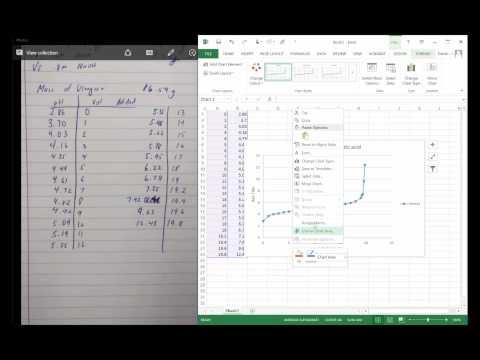 Graphing a titration curve on Excel