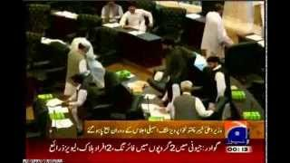 CM Pervez Khattak (PTI) gets angry on KP Assembly members