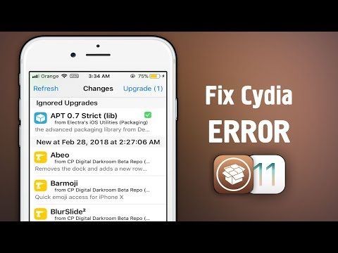 How to Fix CYDIA Not working after updating APT on iOS 11 - 11.1.2 JAILBREAK