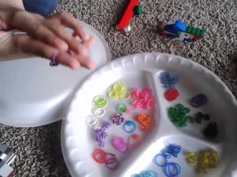 Tutorial on how to make ring,bracelet and necklace from rubber bands