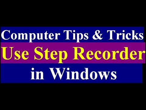 How to Use Windows Steps Recorder | Computer Tips and Tricks.
