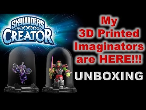 My 3D Printed SKYLANDERS IMAGINATORS are HERE