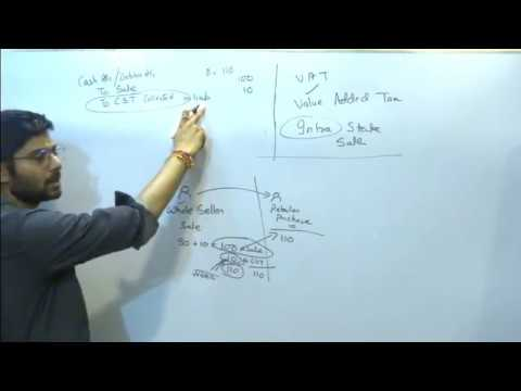 CST AND VAT JOURNAL ENTRIES CLASS 11 , BCOM