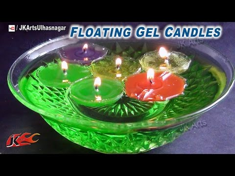 DIY Floating Gel Candles Tutorial | How to make gel candles with Chocolate molds | JK Arts 697