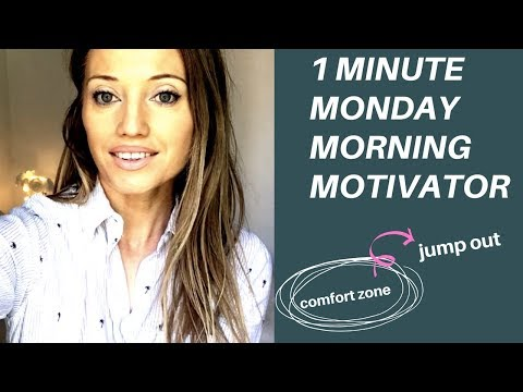1 MINUTE MONDAY MORNING MOTIVATOR - JUMP OUT OF YOUR COMFORT ZONE
