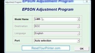Reset Epson L380-l382-l383-l385-l485-l386 / Adjustment Program