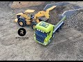 RC Truck Fun Construction Special New Year Ride 2018 Wheel Loader Excavator Action