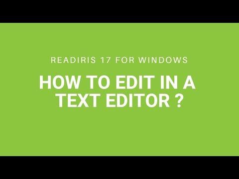 Readiris 17: Editing in a text editor (Word, Notepad, etc.)