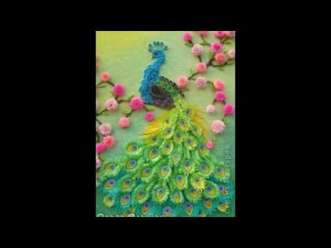 Paper Quilling || 3D peacock paper art