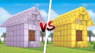 Minecraft: CASA DE FERRO VS. CASA DE OURO ‹ JUAUM ›