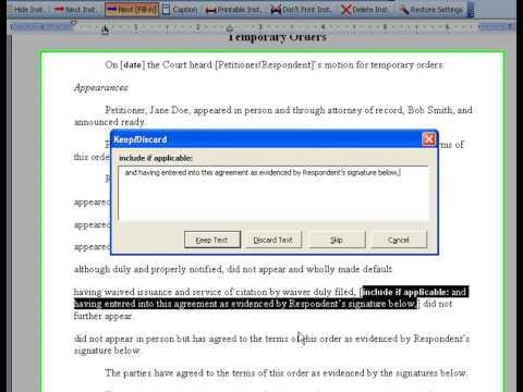 TexasBarBooks Toolbar Tutorial in MS Word 2003