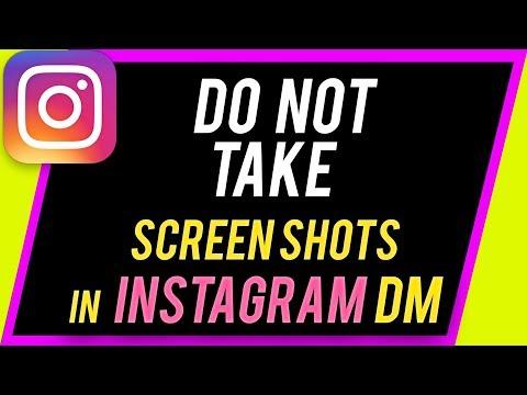 Instagram DM screenshot notification ---Don't take screenshots inside direct messages