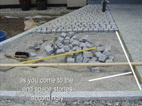 laying cobbles